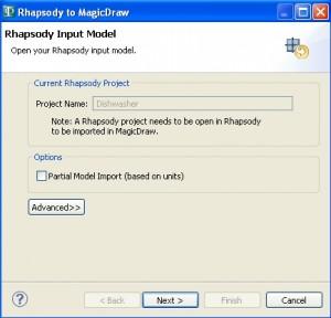 Rhapsody Input Model