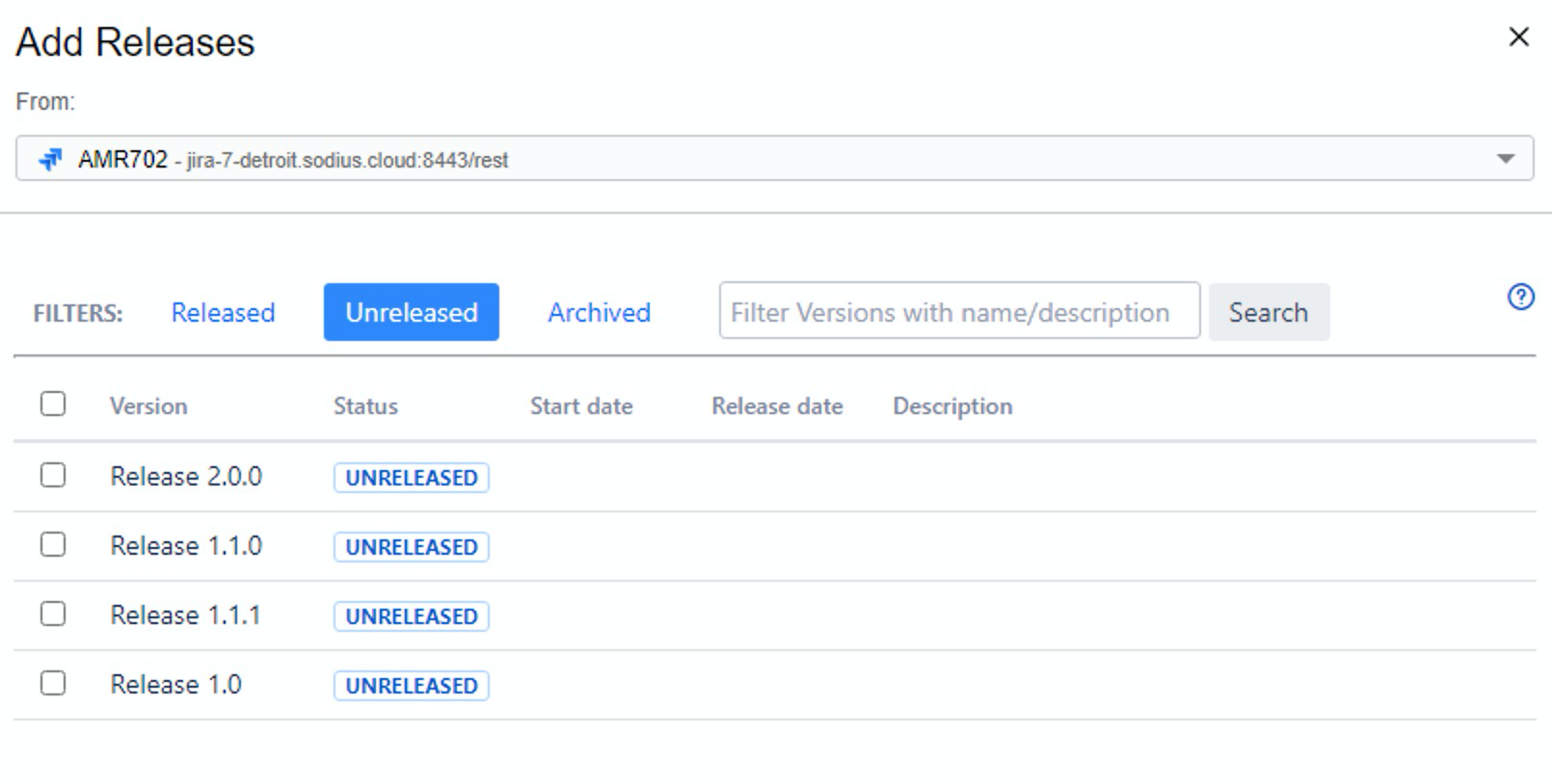 Deliverable Selection_OSLC Connect for Jira 2.6.0_SodiusWillert