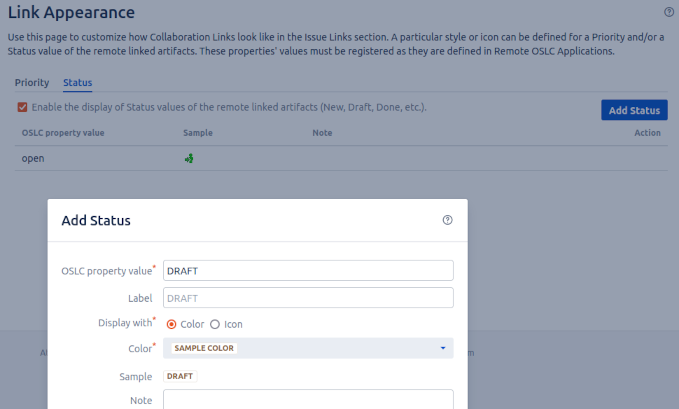links-Appearance-Customization-oslc connect for jira-sodiuswillert