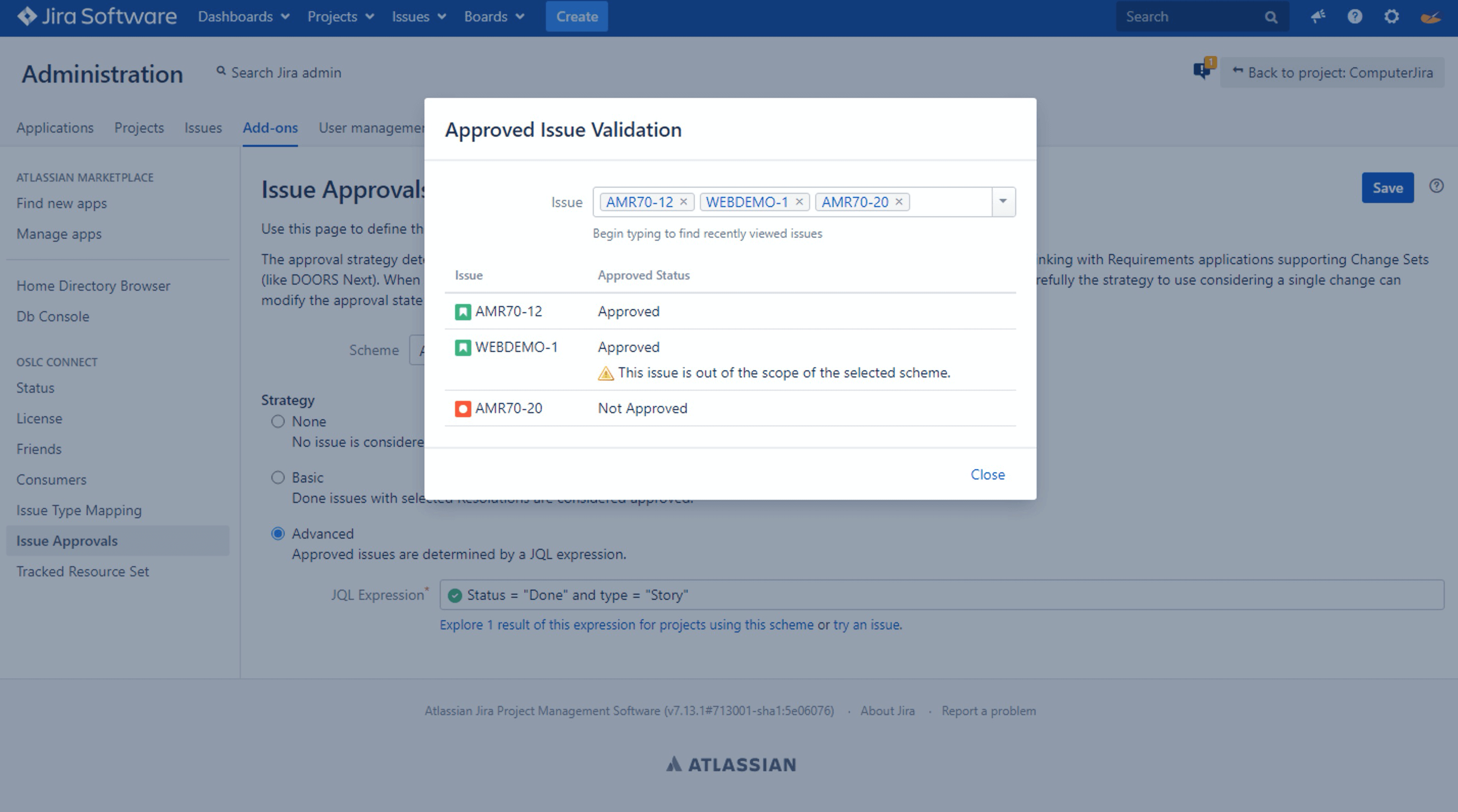 Approvals with DOORS Next Generation and Jira_OSLC Connect for Jira_SodiusWillert-2