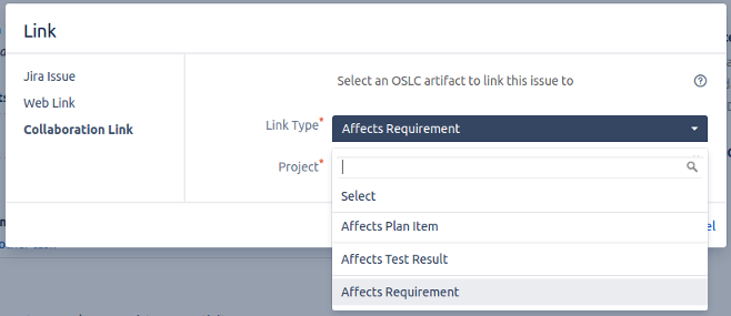 Restrict Possible Links 2_OSLC Connect for Jira 2.5.0_SodiusWillert