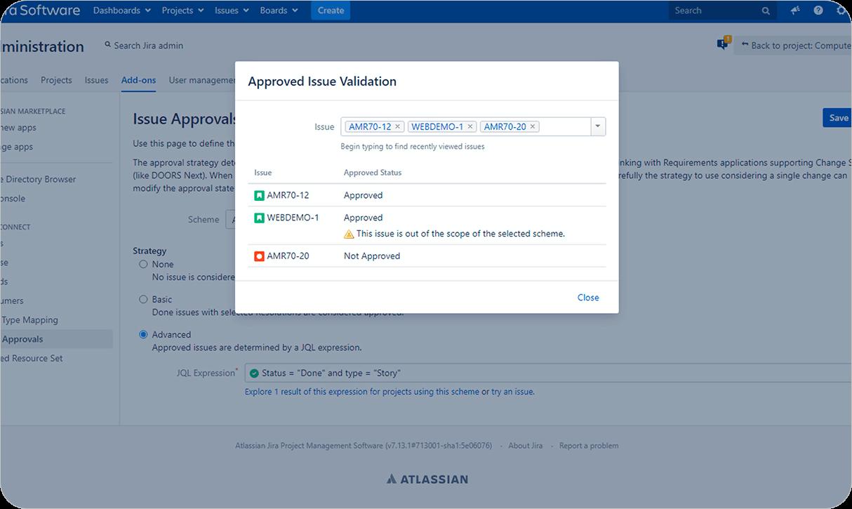 Manage Change Approvals within Jira_Jira DOORS Next interation_OSLC Connect for Jira_SodiusWillert_1