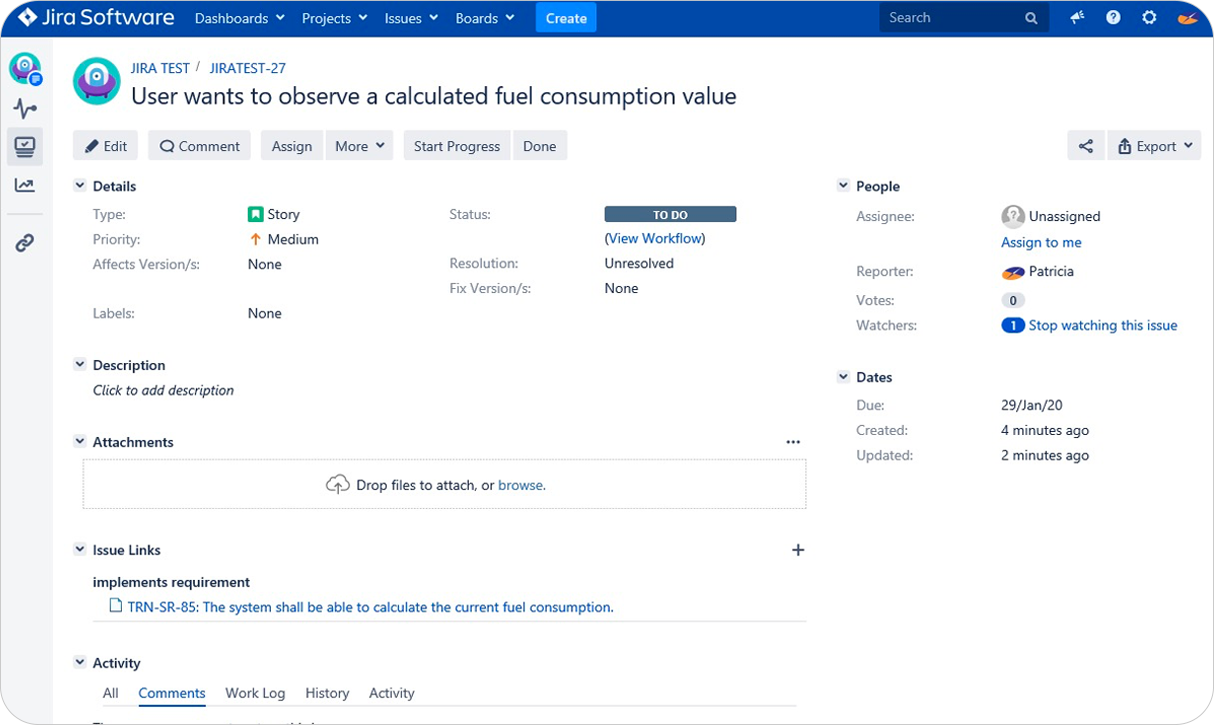 Access DOORS Requirements from Jira_OSLC Connect for Jira_SodiusWillert_1