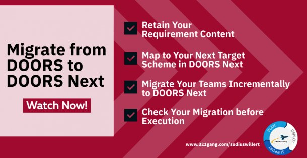 Streamline your Migration from DOORS to DOORS Next (tuile others webinar)